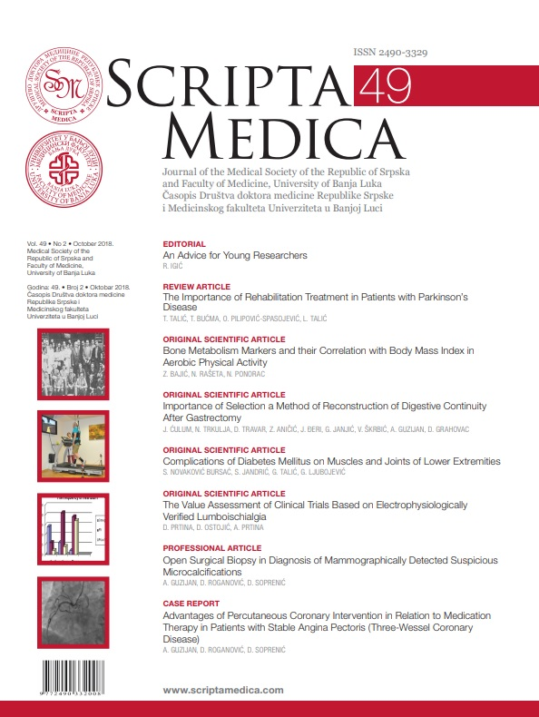View Vol. 49 No. 2 (2018): SCRIPTA MEDICA