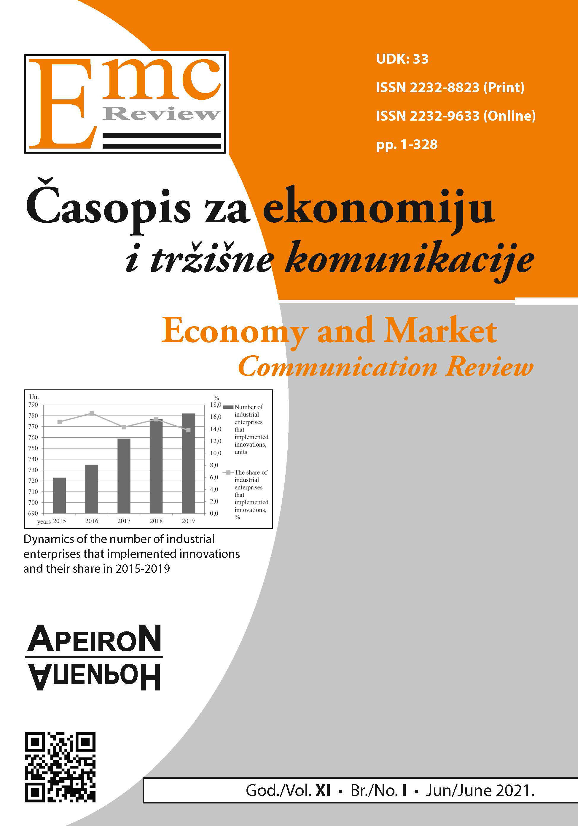 View Vol. 21 No. 1 (2021): EMC Review - ECONOMY AND MARKET COMMUNICATION REVIEW