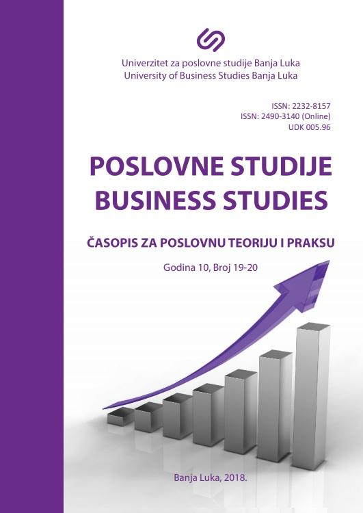 View Vol. 10 No. 19-20 (2018): Časopis za poslovnu teoriju i praksu