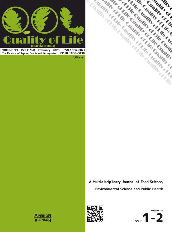 View Vol. 18 No. 1-2 (2020): Quality of Life  (Banja Luka) - APEIRON