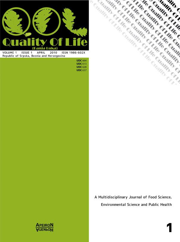 View Vol. 1 No. 1 (2010): QUALITY OF LIFE (Banja Luka) - APEIRON