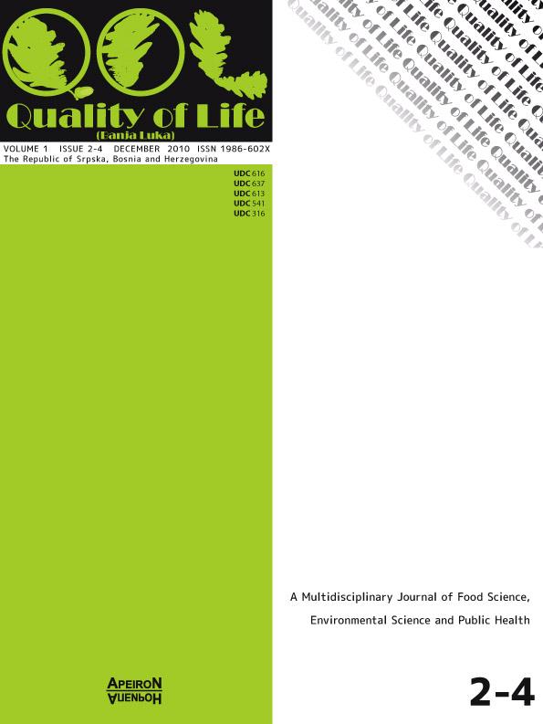 View Vol. 2 No. 2-4 (2010): QUALITY OF LIFE (Banja Luka) - APEIRON