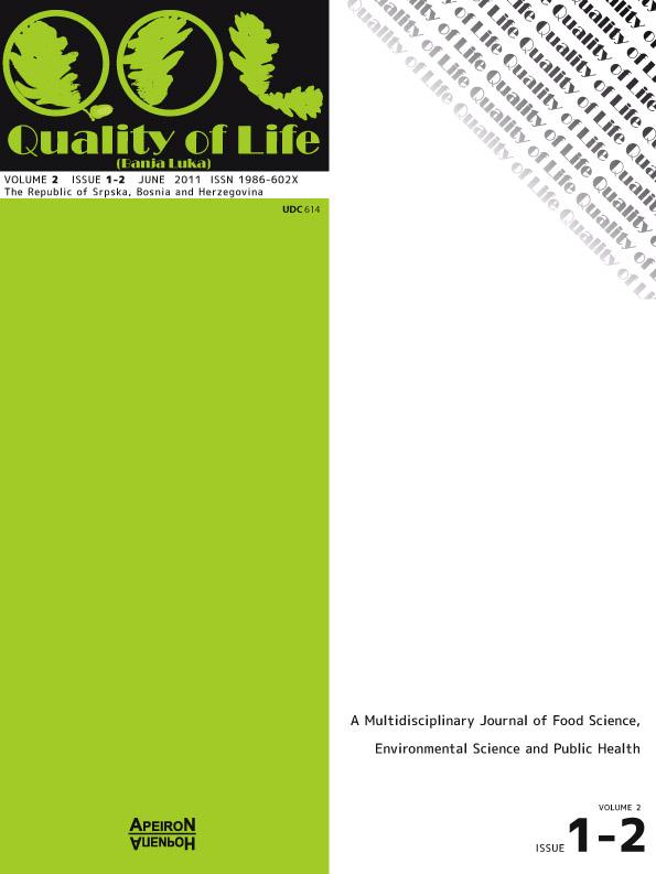 View Vol. 3 No. 1-2 (2011): QUALITY OF LIFE (Banja Luka) - APEIRON