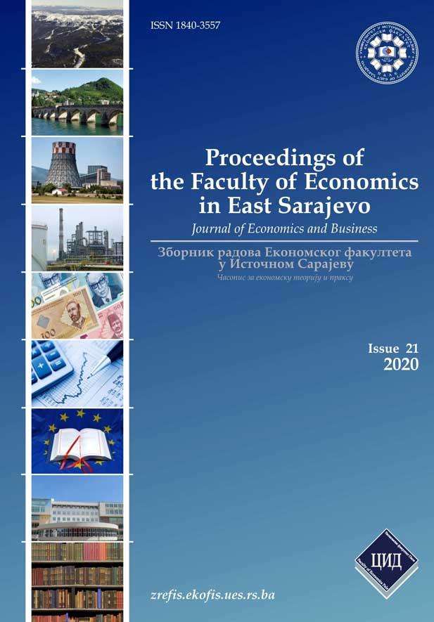 View Vol. 9 No. 21 (2020): Зборник радова Економског факултета У Источном Сарајеву