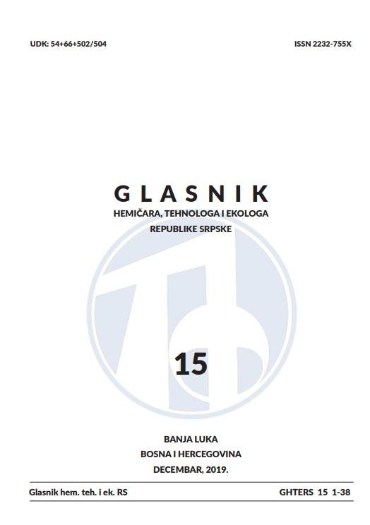 View Vol. 11 No. 15 (2019): Glasnik hemičara, tehnologa i ekologa Republike Srpske