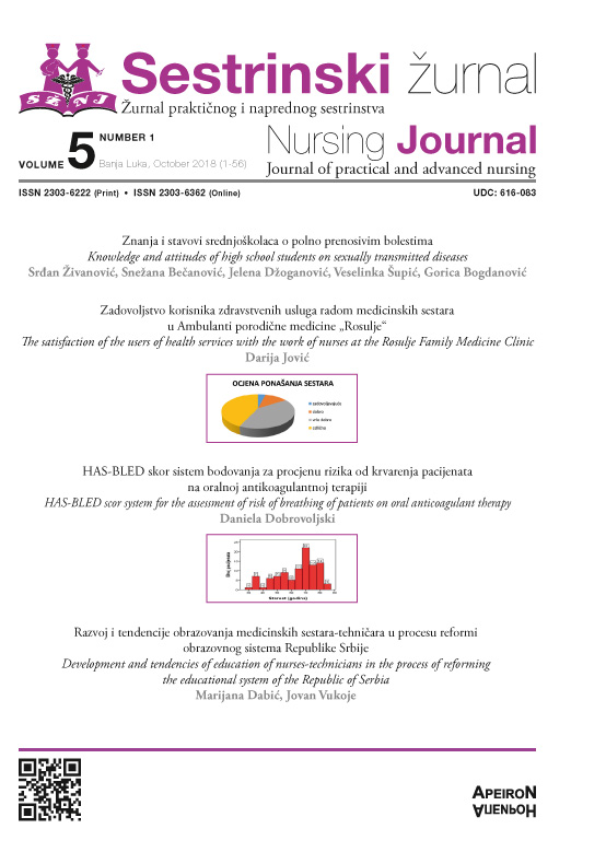 View Vol. 5 No. 1 (2018): Sestrinski žurnal / Nursing Journal