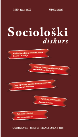 View Vol. 8 No. 15 (2018): Sociološki diskurs