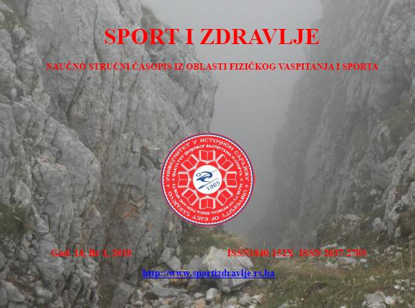 View Vol. 14 No. 1 (2019): SPORT I ZDRAVLJE
