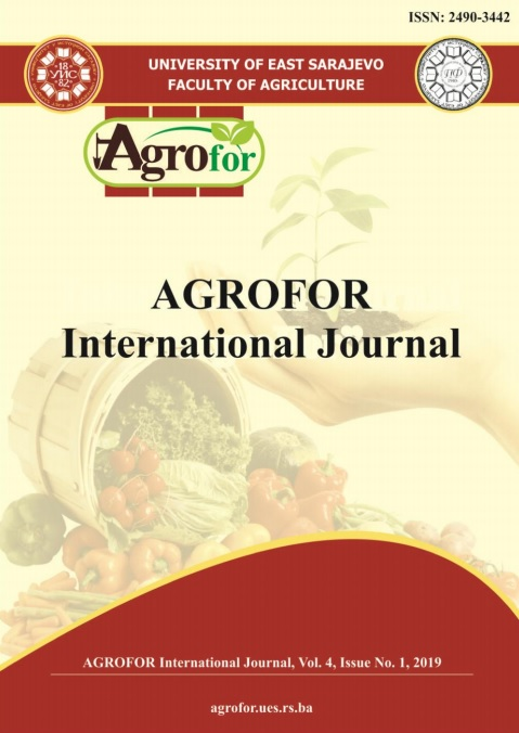 View Vol. 4 No. 1 (2019): AGROFOR - International Journal