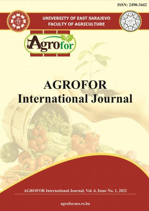View Vol. 6 No. 1 (2021): AGROFOR - International Journal