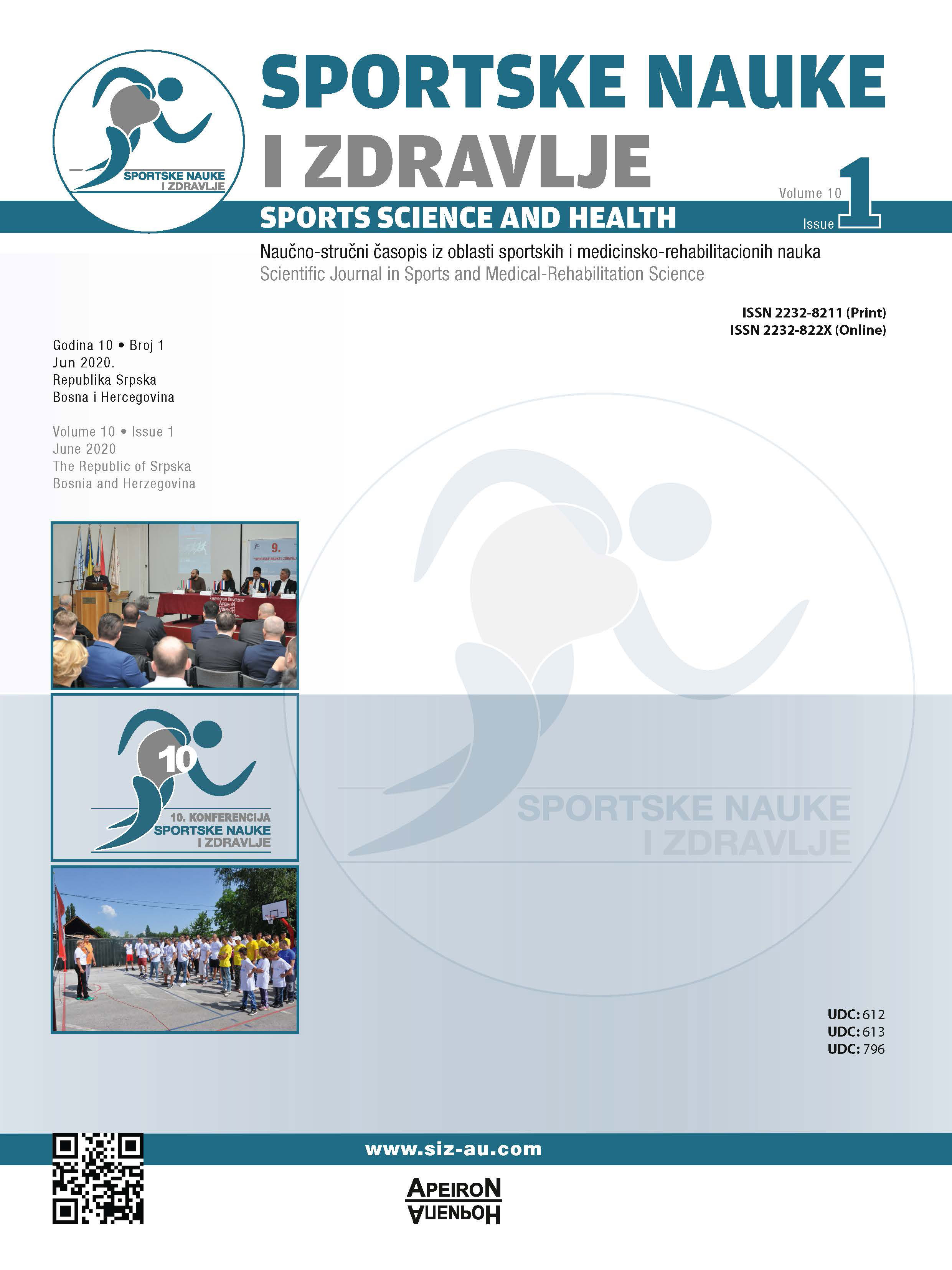 View Vol. 19 No. 1 (2020): SPORTS SCIENCE AND HEALTH