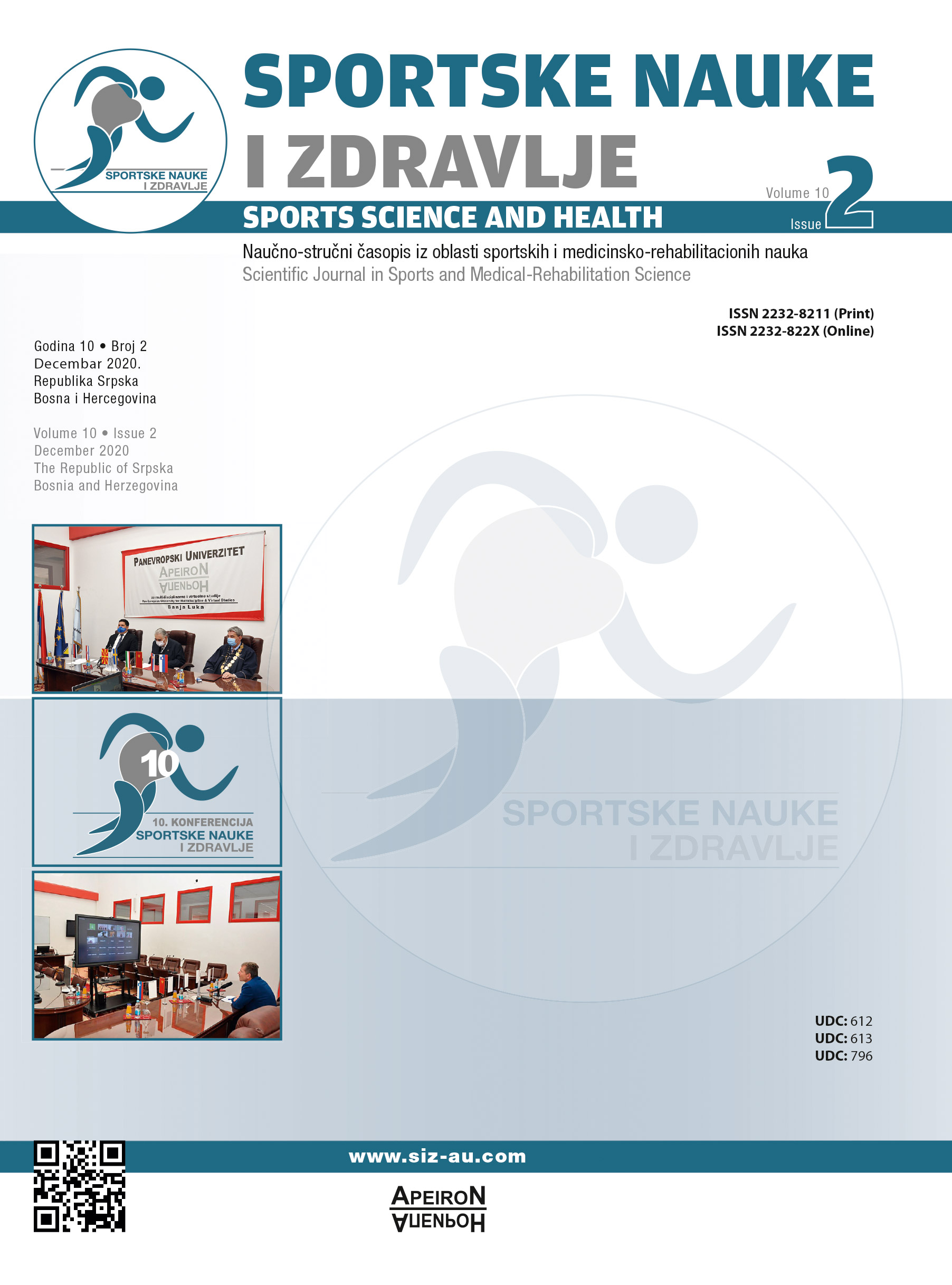 View Vol. 20 No. 2 (2020): SPORTS SCIENCE AND HEALTH