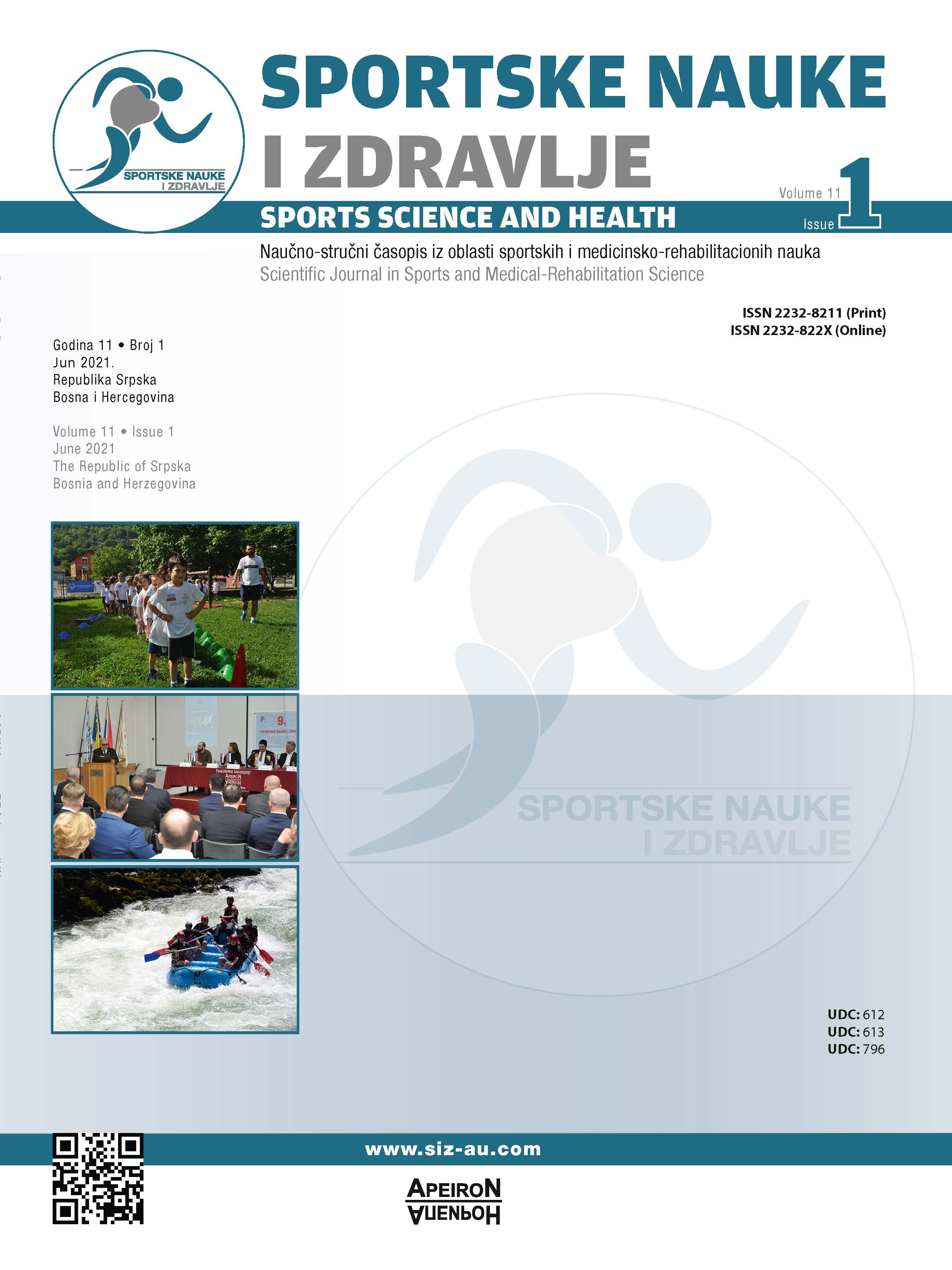 View Vol. 21 No. 1 (2021): SPORTS SCIENCE AND HEALTH