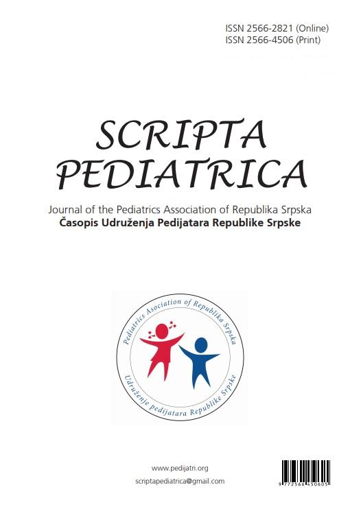 View Vol. 2 No. 1-2 (2019): SCRIPTA PEDIATRICA